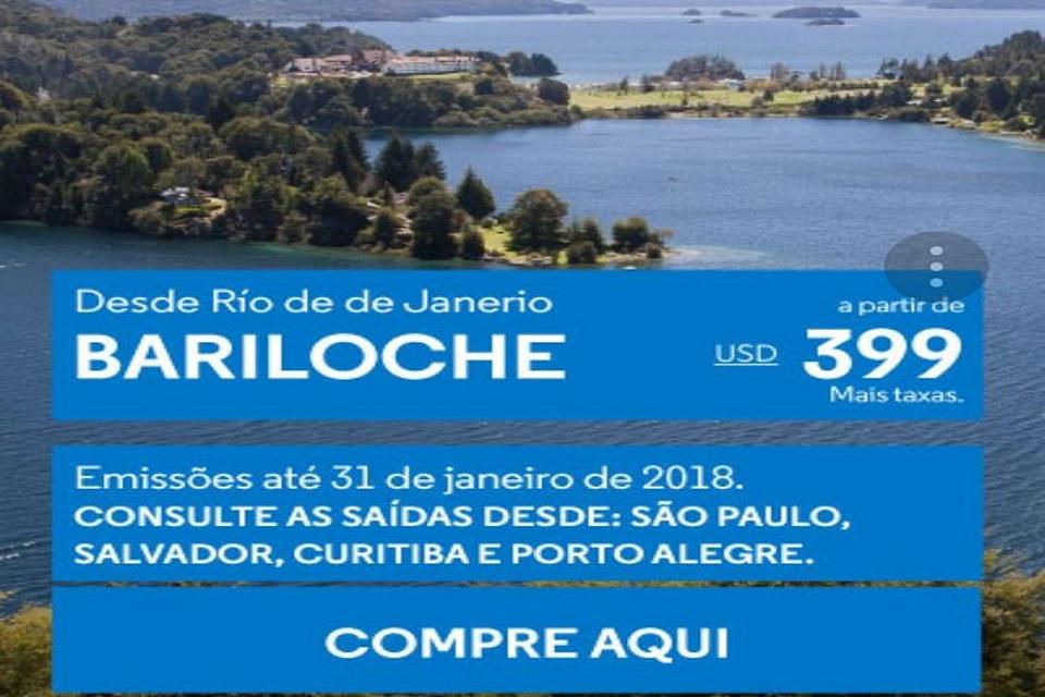 Brasil: Viaje para Bariloche com preços especiais em pleno verão