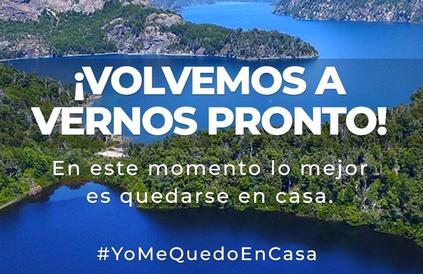 Bariloche se suma a la campaña #YoMeQuedoEnCasa